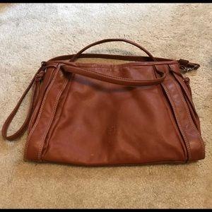 Pepe Moll Leather 3 Pocket Cross Body Bag